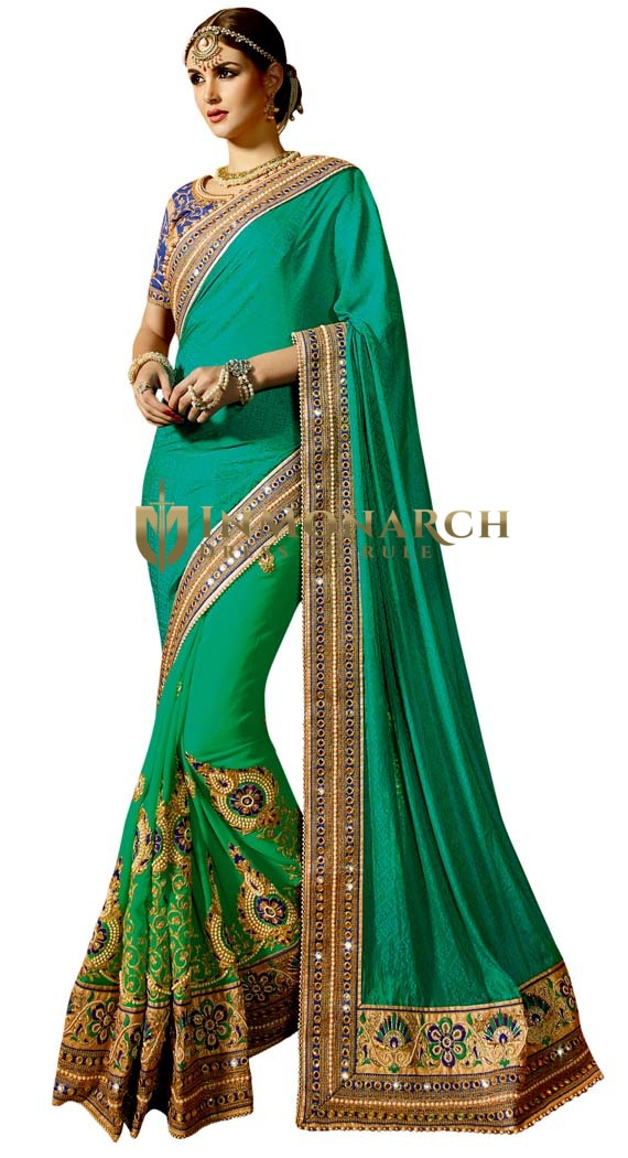 Indian Wedding Half and Half Saree