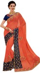 Peach Indian Bridal Wedding Saree