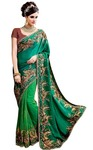Indian Wedding Teal Party Wear Saree