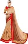 Beige Net Georgette Bollywood Saree