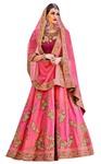 Designer Pink Silk Lehenga Sarees