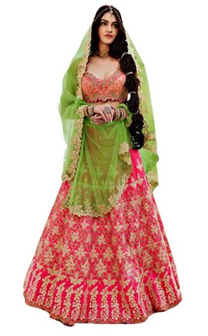Bollywood Pink Lehenga Style Sarees
