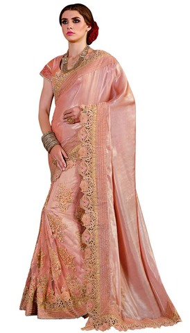 Embroidered Silk Georgette Parywear Saree