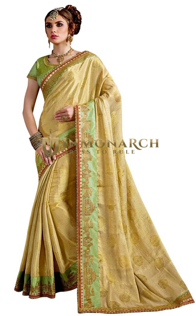 Beautiful Jacquard Silk Bridal Saree