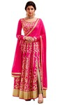 Pink Art Silk Designer Anarkali Suits