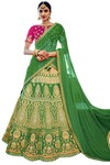 Light Green Silk Jacquard Lehenga