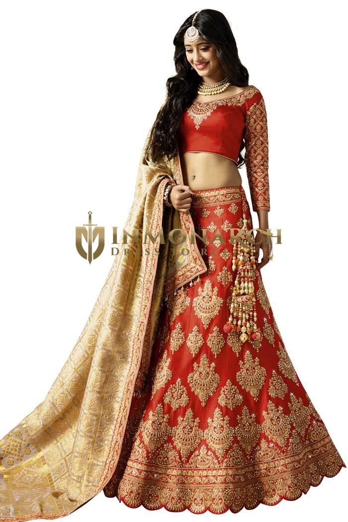 Wedding Red Heavy Work Lehenga