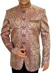 Mens Purple 2 Pc Jodhpuri Suit Embroidered