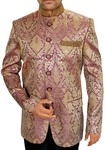 Mens Purple 2 Pc Jodhpuri Suit Embroidered