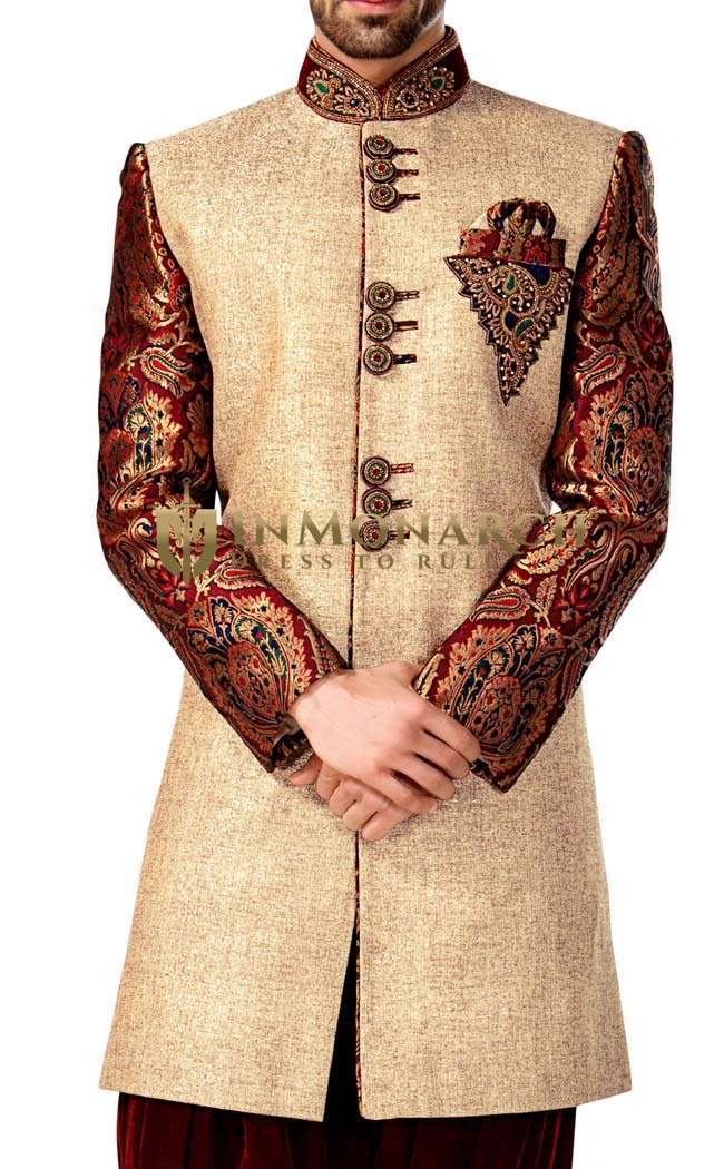 Indian Wedding for Men Beige Indian Wedding Indo Western