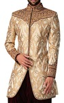 Mens Golden Indo Western Latest 2 Pc