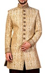 Mens Peach 2 Pc Indowestern Ethnic Designer