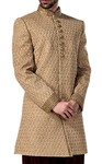 Mens Sherwani Beige Indowestern Wedding Suit Indian Wedding for Men