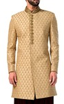 Sherwani For Men Beige Indowestern Bollywood Indian Wedding Clothes