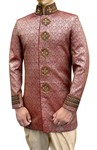 Mens Sherwani kurta Pink indo western Groomswear Indian Sherwani
