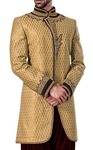 Mens Golden 2 Pc Indowestern Latest Design