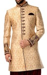 Mens Sherwani Beige Indowestern Sherwani for Men Wedding