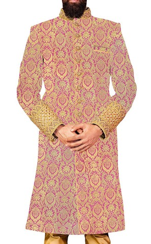 Wedding Sherwani Lavender Indowestern Latest Sherwani for Men