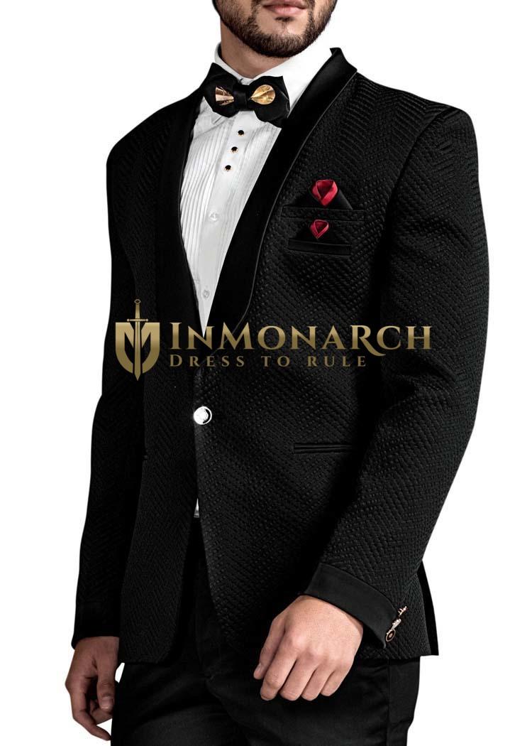 Mens Black 6 Pc Tuxedo Shawl Collar