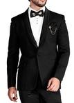 Mens Black 6 Pc Tuxedo Triple Layered Shawl Collar