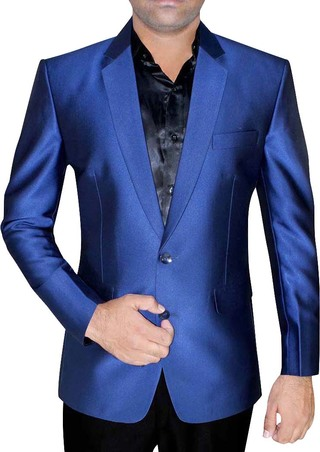 Mens Slim fit Casual Blue Two Button Blazer sport jacket coat Partywear