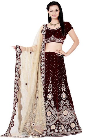 Royal Maroon Wedding Lehenga