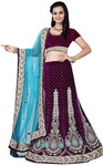 Heavy Work Purple Lehenga Choli