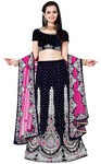 Navy Blue Velvet Wedding Lehenga