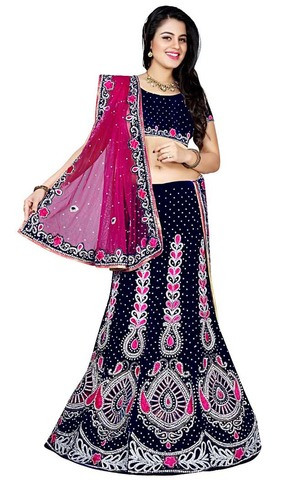 Indian Wedding Dark Navy Lehenga