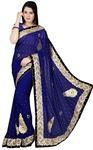 Indian Royal Blue Bridal Saree