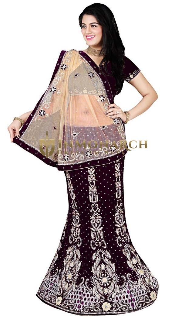 Party Wear Purple Lehenga choli