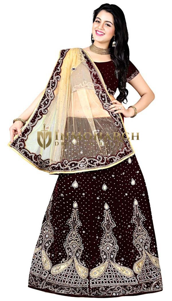 Traditional Maroon Bridal Lehenga choli