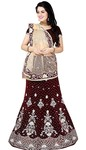 Stylish Velvet Maroon Lehenga choli