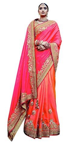 Designer Jacquard Art silk Bridal Saree