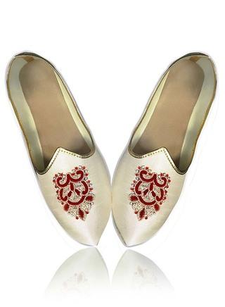Mens Cream Groom Wedding Shoes