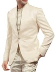 Mens Cream 3 Pc Partywear Suit Traditional