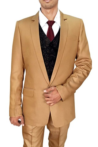 Mens Bisque 5 Pc Partywear Suit Single Button