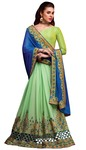 Green Chiffon Silk Partywear Saree