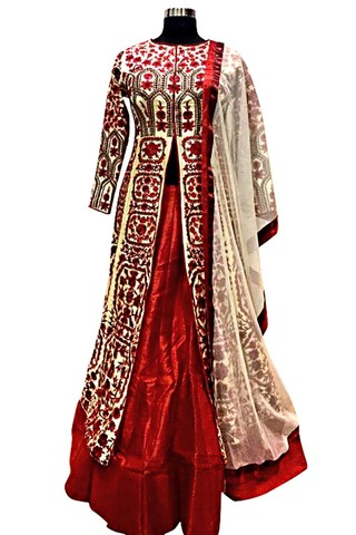 Maroon Wedding Indowestern Suit