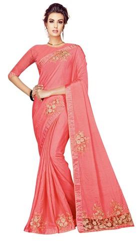 Traditional Shine Chiffon Partywear Saree