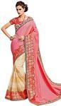 Pink Two Tone Silk Bollywood Saree