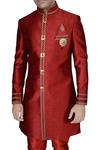 Sherwani for Men Red Indian Wedding Clothes for Men Indo Western