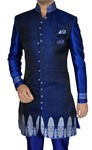 Mens Navy Blue Indo Western Classic 4 Pc