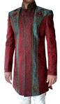 Mens Red 2 Pc Indo Western Sherwani Exclusive