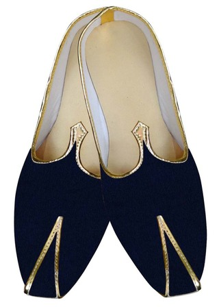 Indian Mens Shoes Dark Navy Groom Juti Wedding Shoes