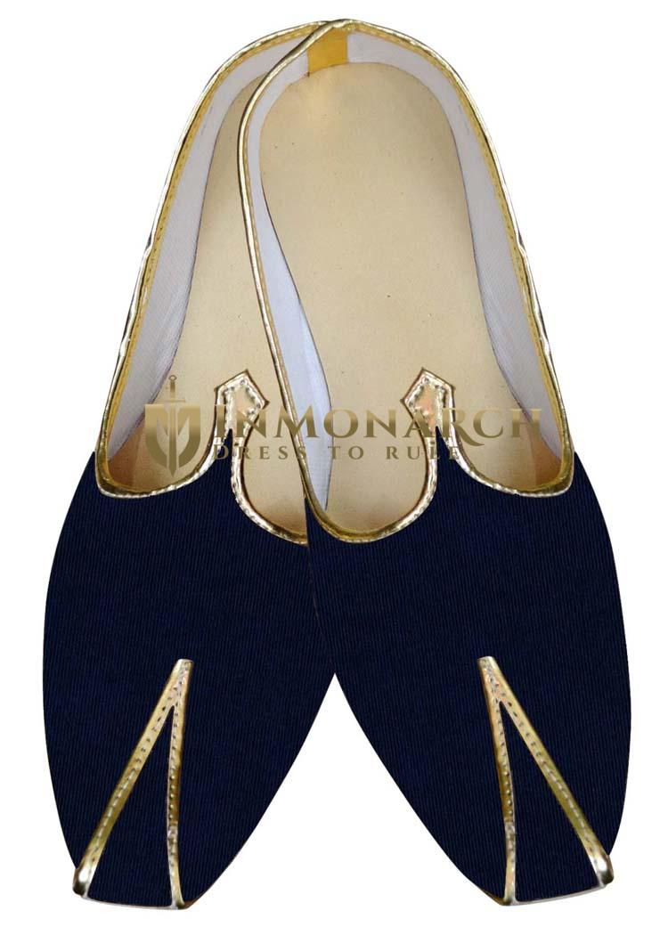 Indian MensShoes Dark Navy Groom Juti Wedding Shoes