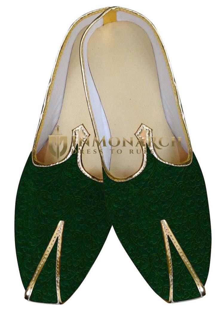 Mens Sherwani Shoes Green Wedding Shoes Designer Juti ForMen