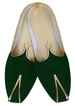 Mens Sherwani Shoes Green Wedding Shoes Designer Juti For Men
