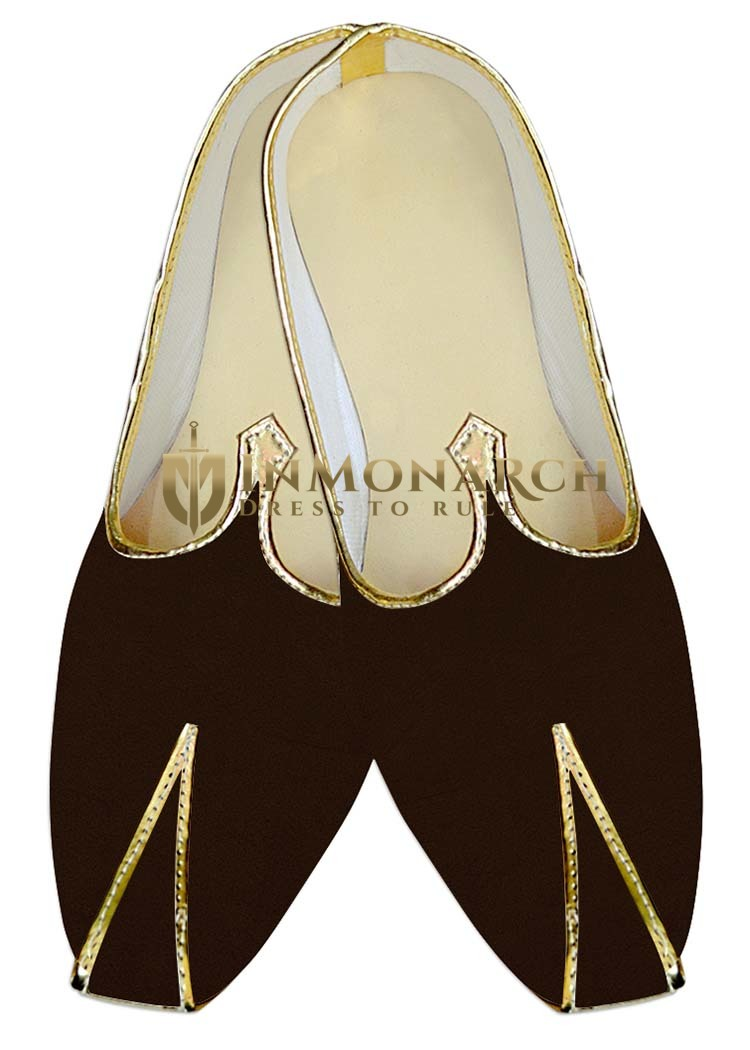 Traditional Shoes For Men Brown Wedding Mojari Fancy Indian Bridal Shoes