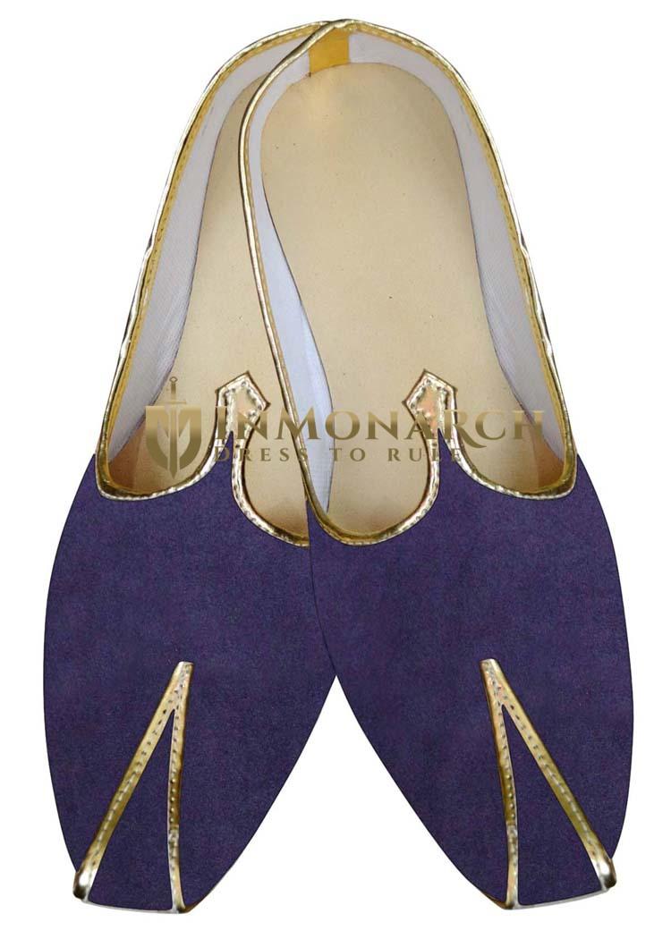 Indian MensShoes Regency Velvet Indian Wedding Juti Shoes